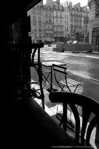 La pluie s'acharnant sur la ville