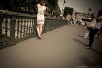 Les touristes sur le pont